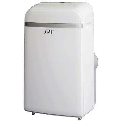 14,000 BTU (9,000 BTU SACC) Portable Air Conditioner and Dehumidifier in White/Silver