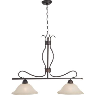 Basix 2-Light Oil-Rubbed Bronze Pendant