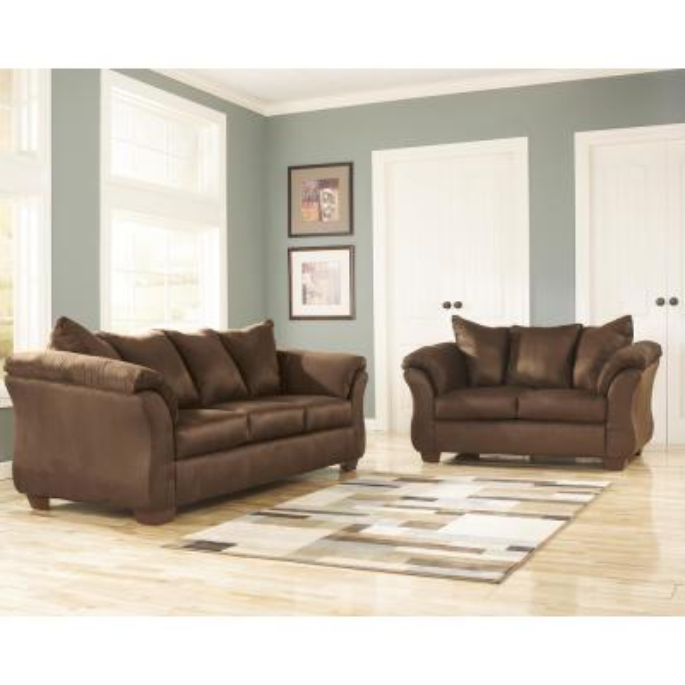 Signature Design by Ashley Darcy 2-Piece Cafe Fabric Living Room Set