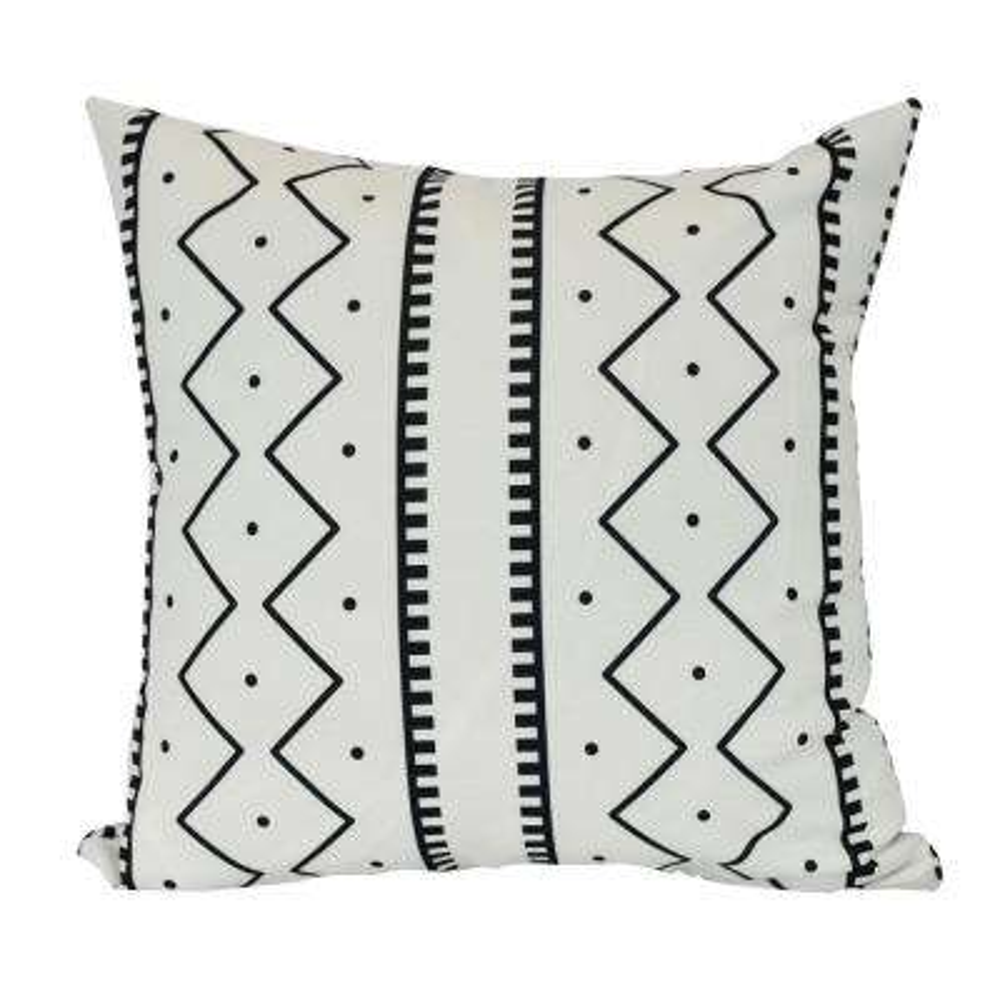 26 in. Mudcloth Geometric Print Decorative Pillow