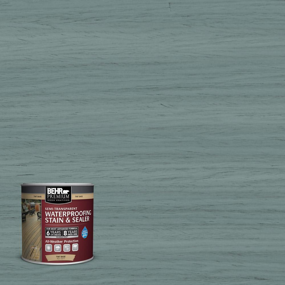 8 oz. #ST-119 Colony Blue Semi-Transparent Waterproofing Exterior Wood Stain and
