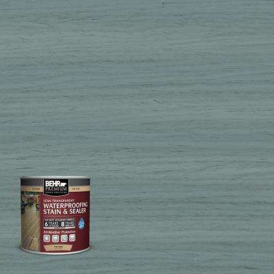 8 oz. #ST-119 Colony Blue Semi-Transparent Waterproofing Exterior Wood Stain and Sealer Sample