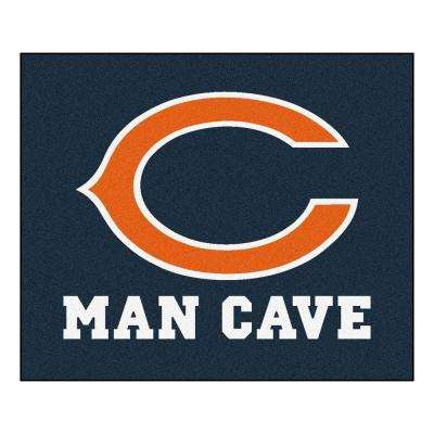 Chicago Bears Blue Man Cave 5 ft. x 6 ft. Area Rug