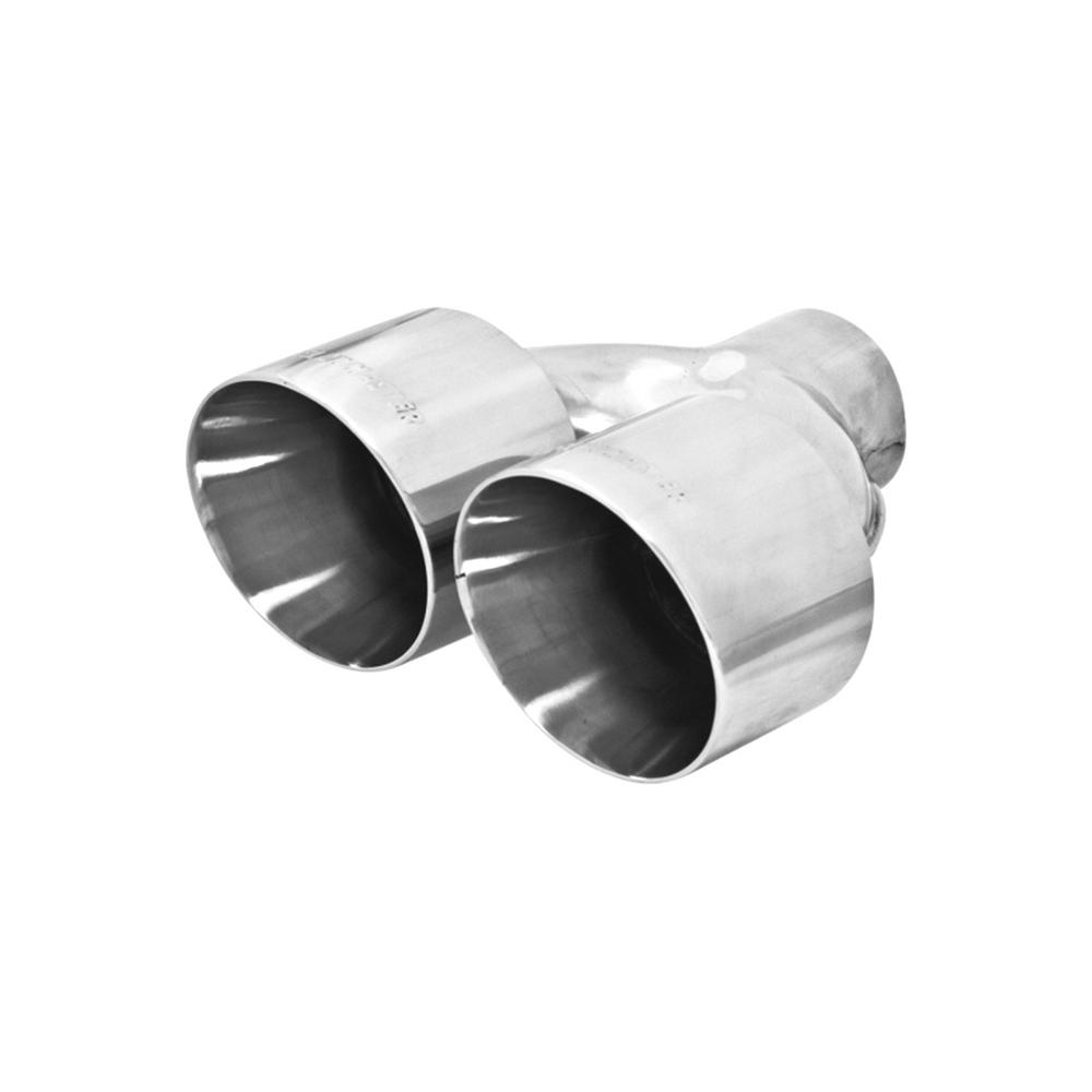 """5/"""" Long 4/"""" Outlet Stainless Steel Exhaust Tip Double Wall Angle 2.5/"""" Inlet"""