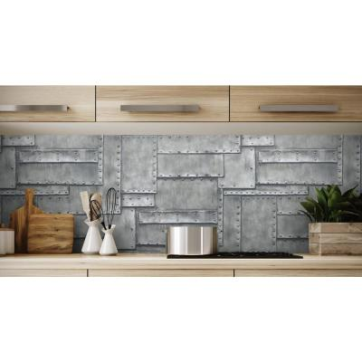 Charcoal Fuselage Panel Peel and Stick Wallpaper 30.75 sq. ft.