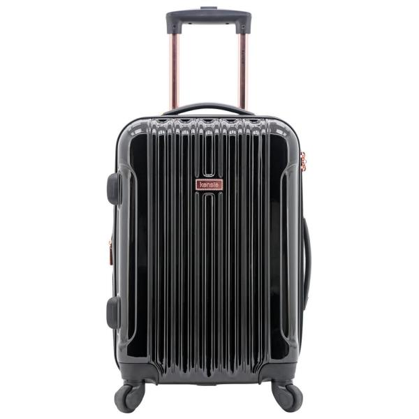 Kensie in. Alma in. Collection 20 in. Hardside Metallic Rolling Carry-on