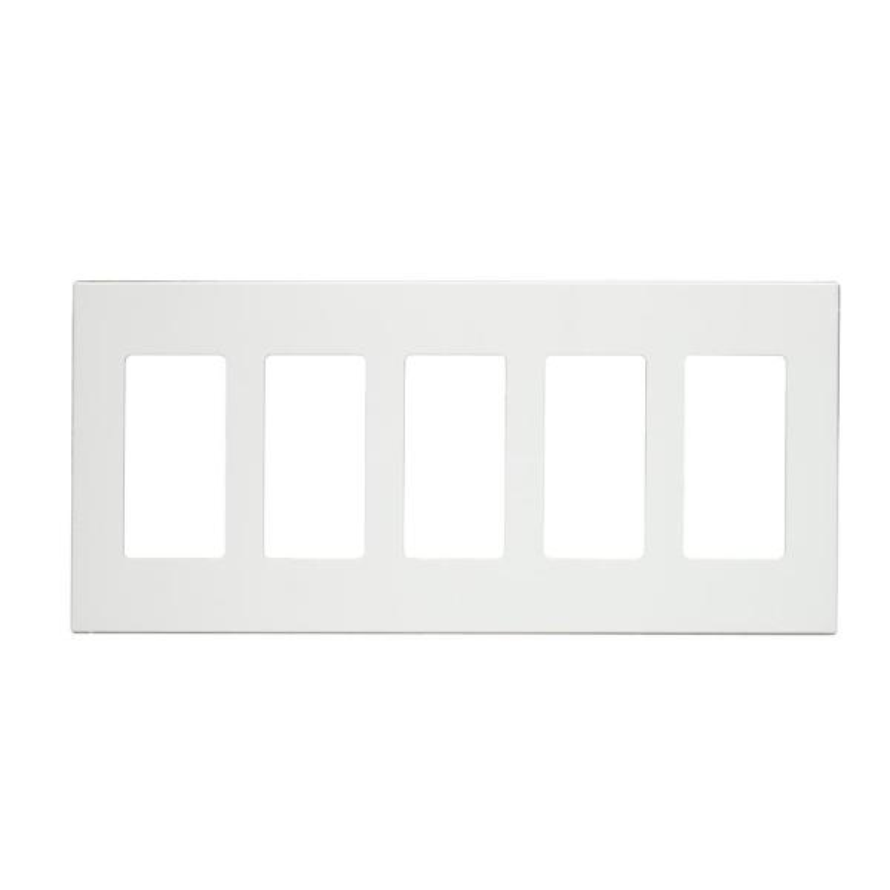 White 5-Gang Decorator/Rocker Wall Plate (1-Pack)