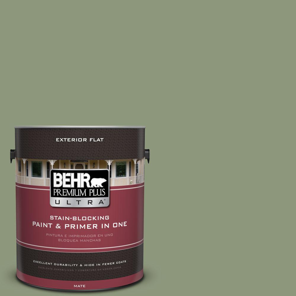 BEHR Premium Plus Ultra 1-gal. #ECC-63-1 Autumn Sage Flat Exterior Paint