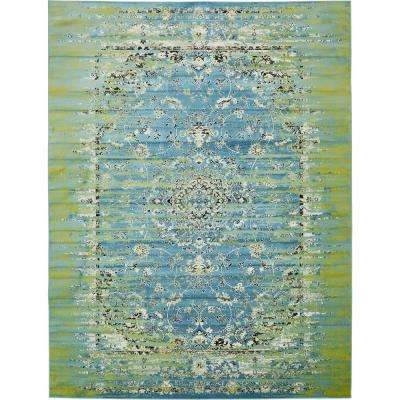 Istanbul Blue 10 ft. x 13 ft. Area Rug