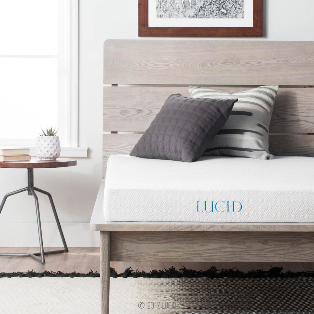lucid 5 in twin xl size gel memory foam mattress lu05tx45gf the home depot. Black Bedroom Furniture Sets. Home Design Ideas
