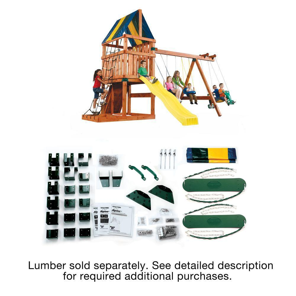 Swing-N-Slide Playsets Do-It-Yourself Alpine Custom Playset-WS 5007 ...
