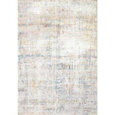 VALLEY GREY/BLUE 5FT 3IN X 7FT 7IN TRADITIONAL VISCOSE AREA RUG