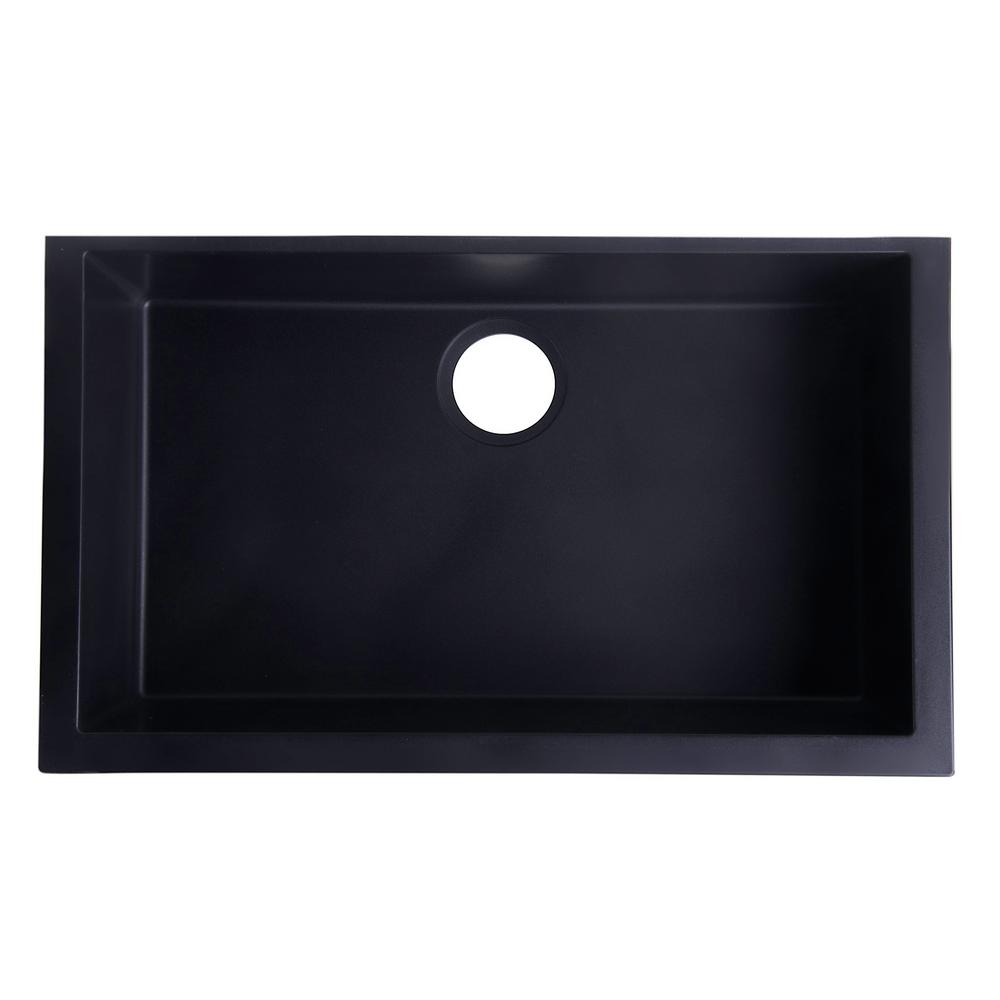 LaToscana One Undermount Granite Composite 17 in. Single Bowl ...