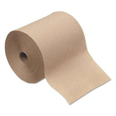 1-Ply Natural Hardwound Paper Towel (12 Rolls/Carton)