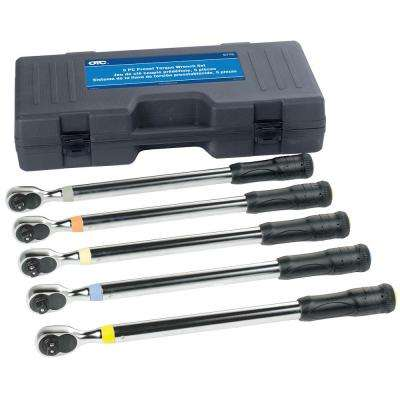 1/2 in. Drive Preset Torque Wrench Set (5-Piece)
