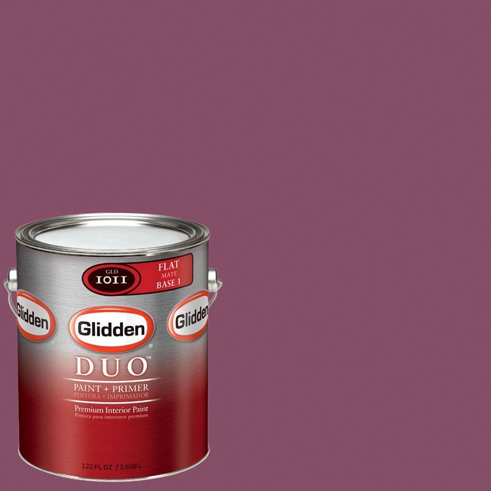 Glidden DUO Martha Stewart Living 1-gal. #MSL011-01F Beet Flat Interior Paint with Primer-DISCONTINUED