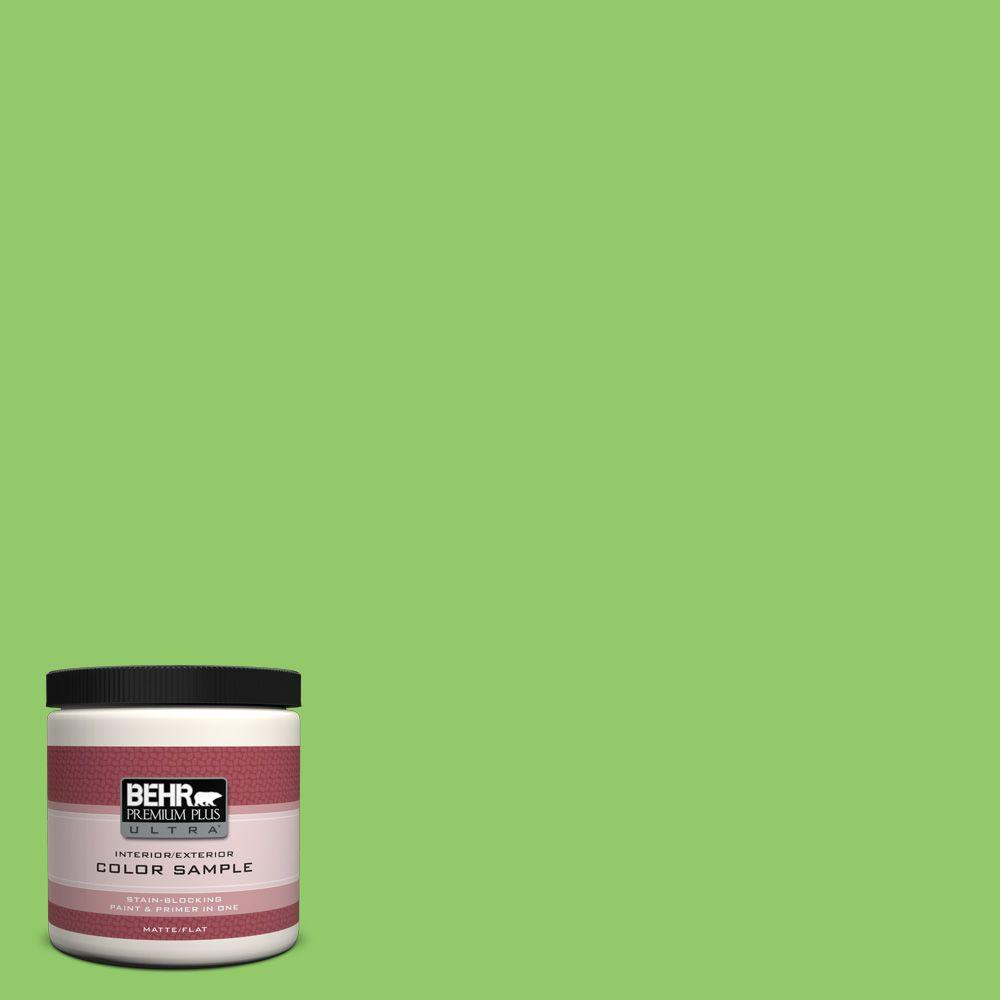 Behr apple orchard paint color: a deliciously fresh spring green color! #paintcolor #greenpaint #springgreen
