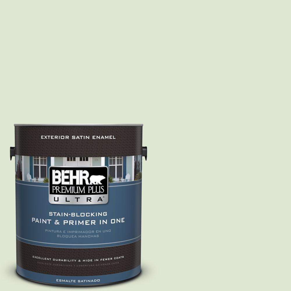 BEHR Premium Plus Ultra 1-gal. #M370-2 Cabbage Leaf Satin Enamel Exterior Paint, Greens