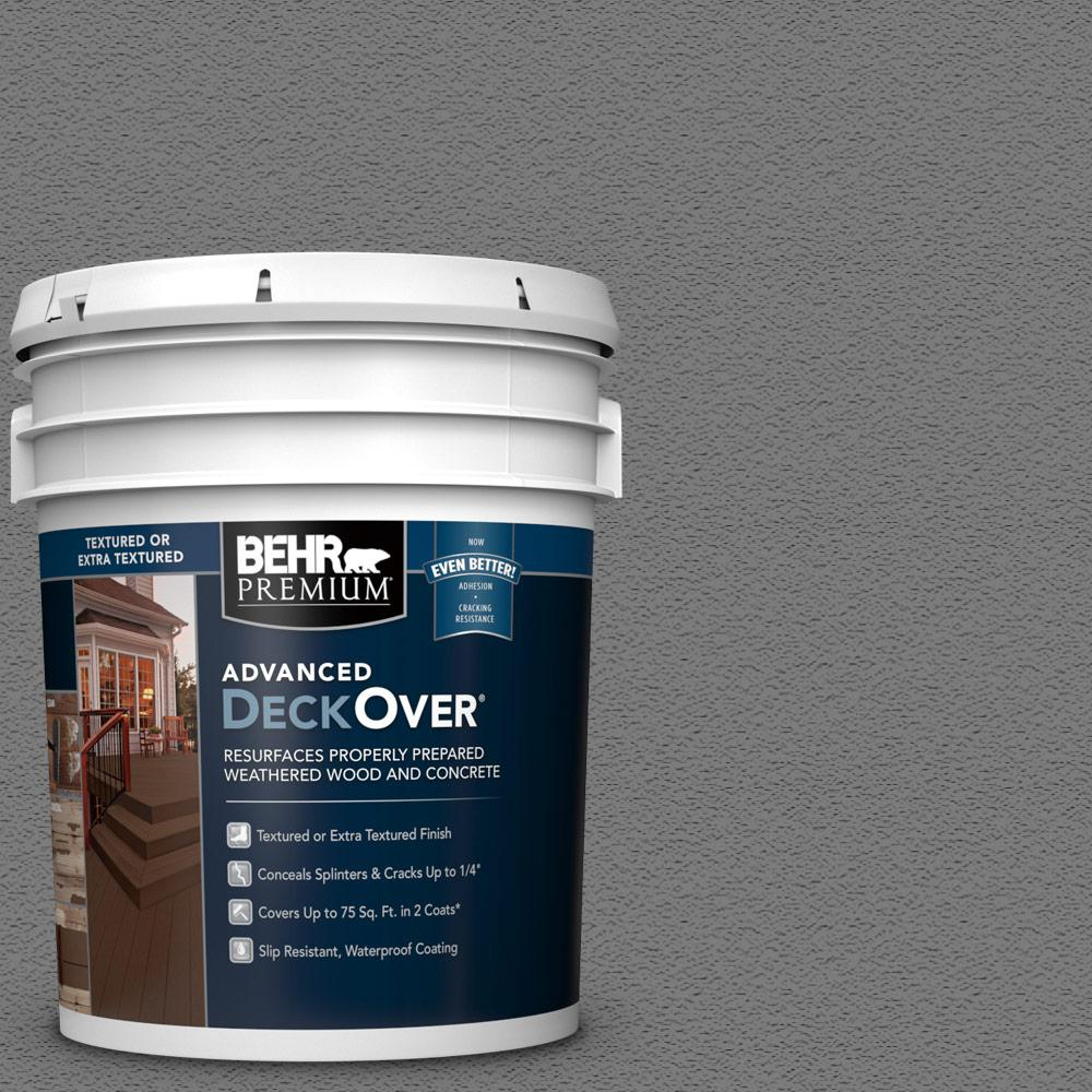 BEHRPremiumAdvancedDeckOver BEHR Premium Advanced DeckOver 5 gal. #PFC-63 Slate Gray Textured Solid Color Exterior Wood and Concrete Coating
