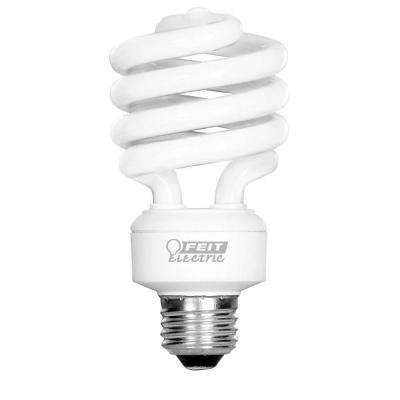 100-Watt Equivalent A19 Spiral Non-Dimmable E26 Base Compact Fluorescent CFL Light Bulb, Soft White 2700K (4-Pack)
