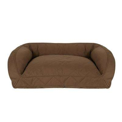 Large/X-Large Chocolate Orthopedic Quilted Microfiber Bolster Bed