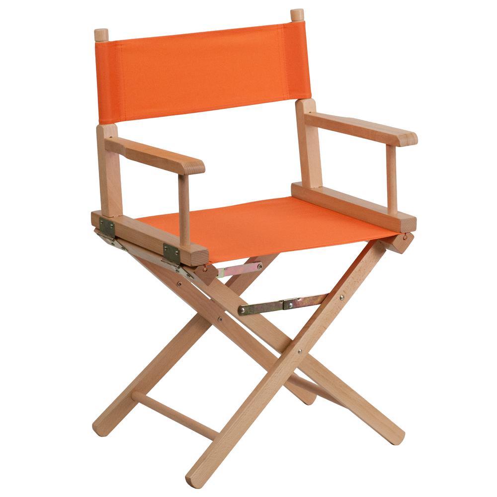 Flash Furniture Standard Height Directors Orange Chair