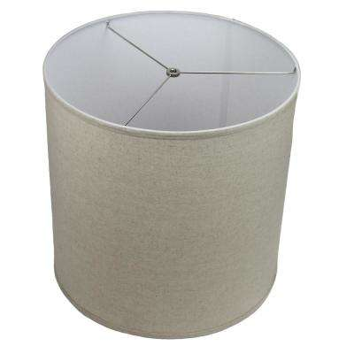 Fenchel Shades 18 in. Top Diameter x 18 in. Bottom Diameter x 18 in. Height Drum Lamp Shade - Couture Natural