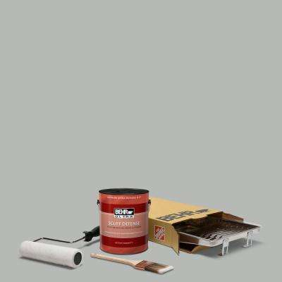 1 gal. #N460-3 Lunar Surface Ultra Extra Durable Flat Interior Paint and 5-Piece Wooster Set All-in-One Project Kit