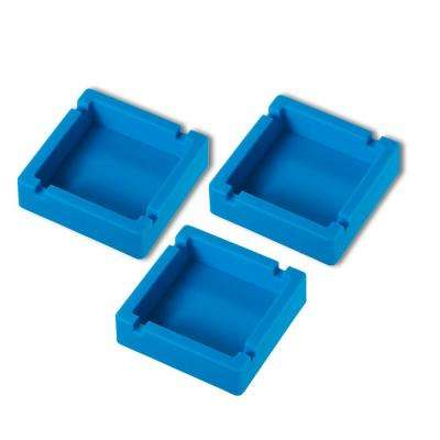 Elora Silicon Unbreakable Cigarette Ashtray, Blue (3-Pack)