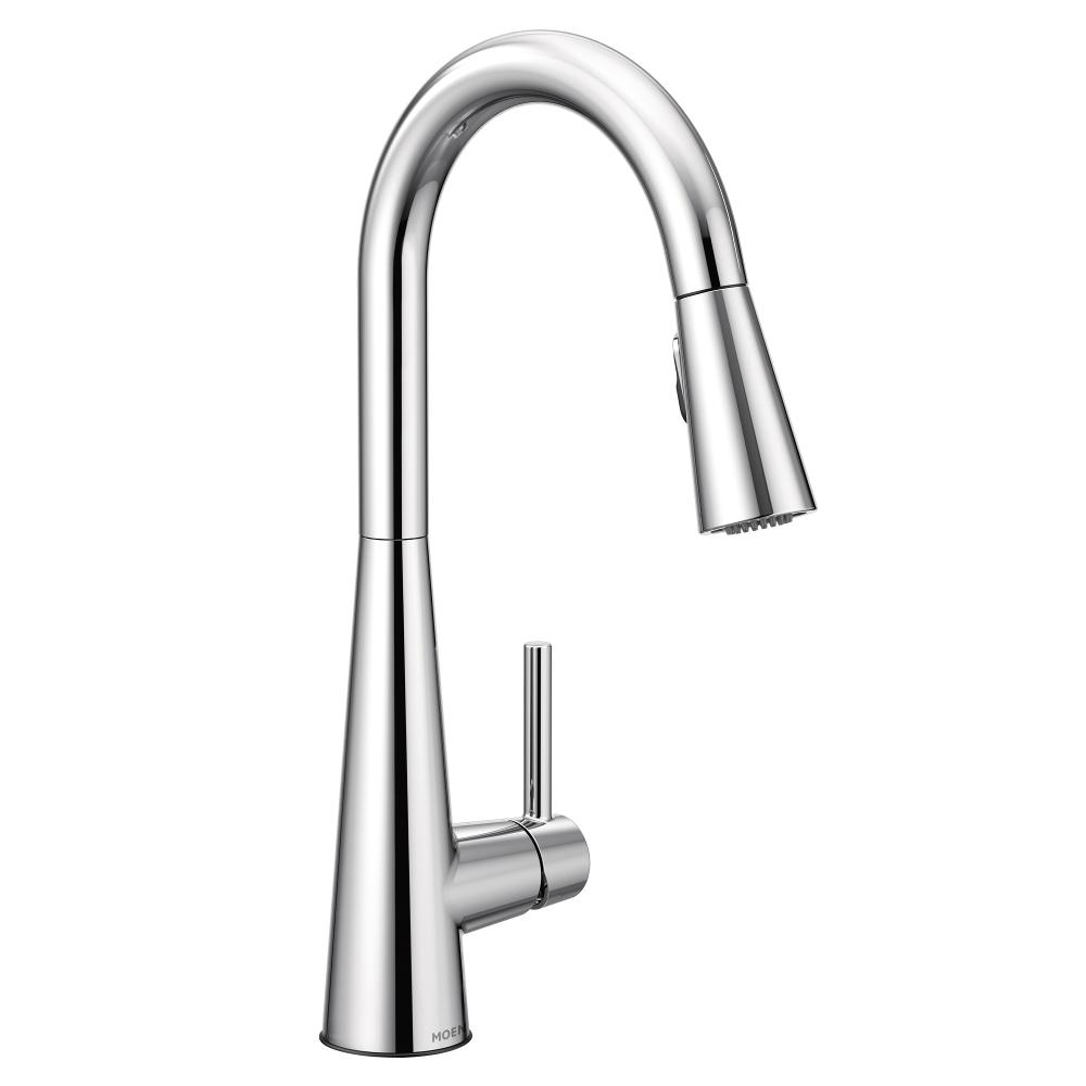 Moen Sleek Single Handle Pull Down Sprayer Kitchen Faucet With