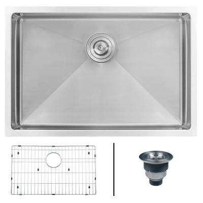 Undermount Stainless Steel 28 in. 16-Gauge Single Bowl Kitchen Sink
