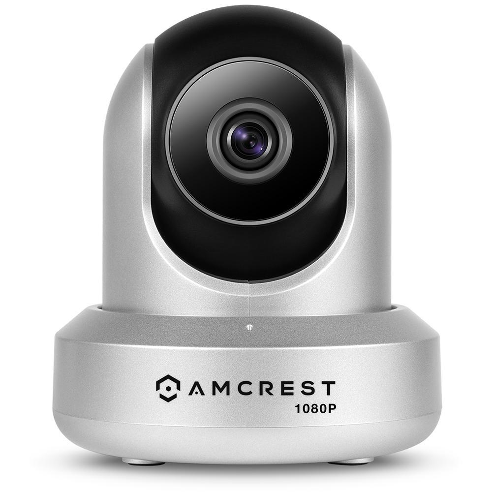 ProHD 1080p Wi-Fi Wireless IP Security Camera 1920TVL, Pan/Tilt, Night Vision, 2-Way Audio, Silver