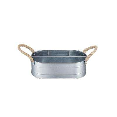 Galvanized Metal Serving Caddy
