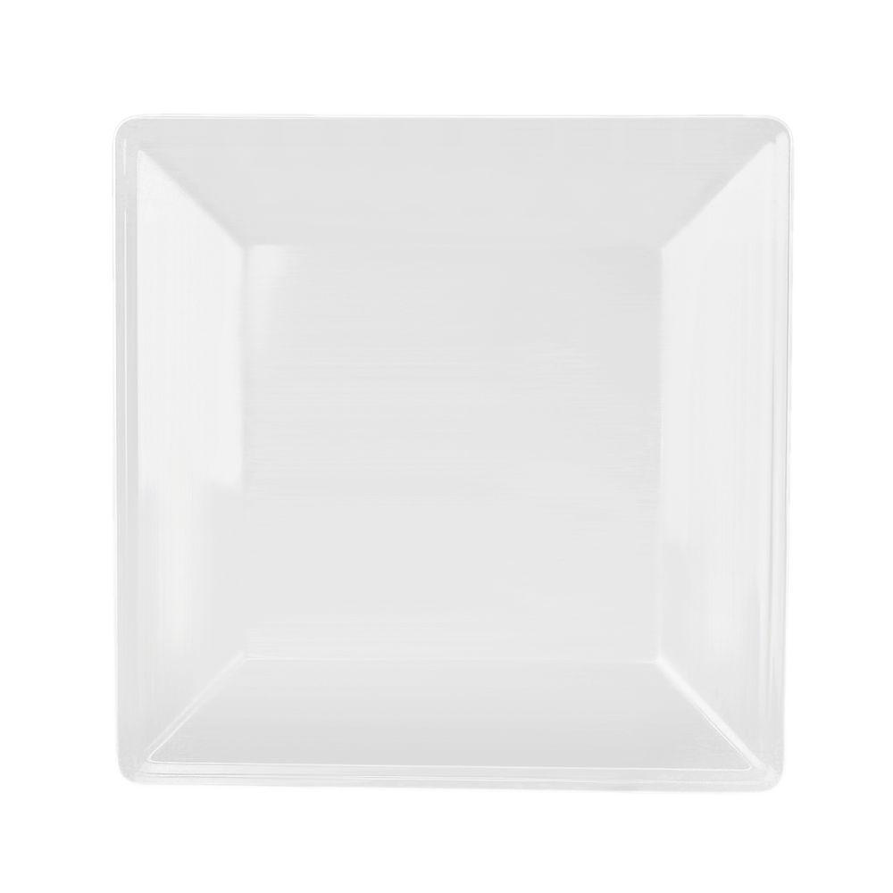 Restaurant Essentials Jazz 4 in. x 4 in. Square Plate in White (1  sc 1 st  The Home Depot & Restaurant Essentials Jazz 4 in. x 4 in. Square Plate in White (1 ...