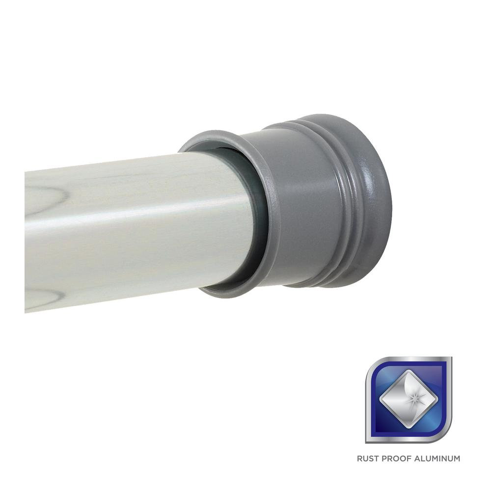 Zenna Home NeverRust 27 in. - 40 in. Aluminum Adjustable Tension ...