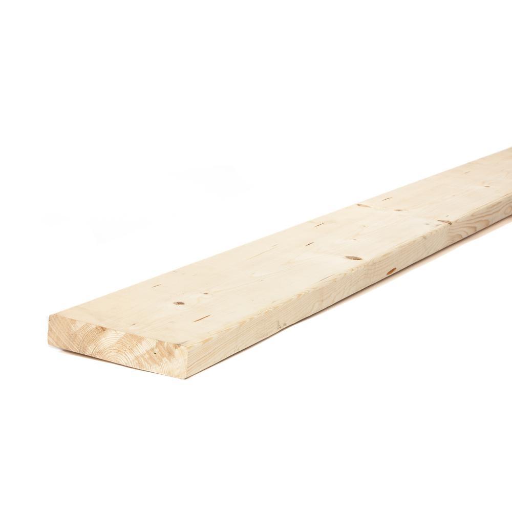 2 in  x 8 in  x 14 ft  Premium Kiln-Dried Heat Treated Whitewood  Dimensional Lumber