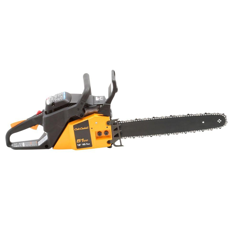 Cub Cadet 18 in. 51cc 2-Cycle Gas Chainsaw with Carry Case