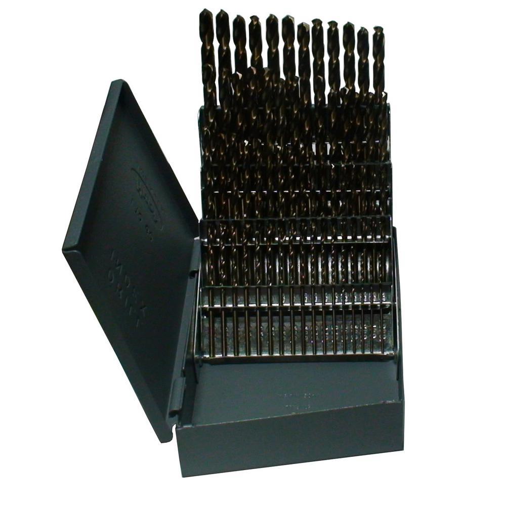 m42 Cobalt Jobber Drill Bit Set (60-Pieces)