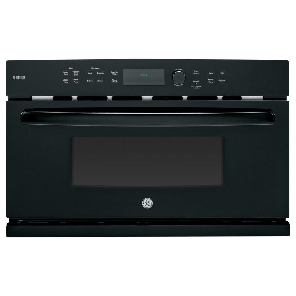 GE Profile Advantium 30 in. Single Electric Wall Oven with Speed Cook and Convection in Black