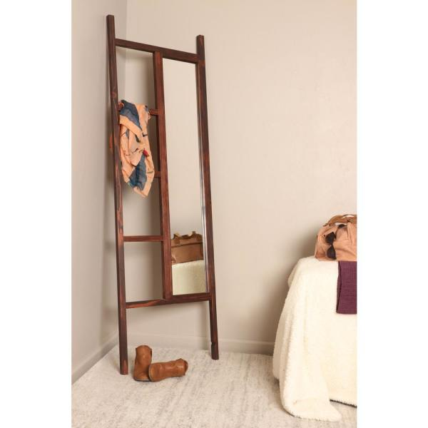 Brandtworks 23 25 In X 72 In Carrington Walnut Leaning Mirror