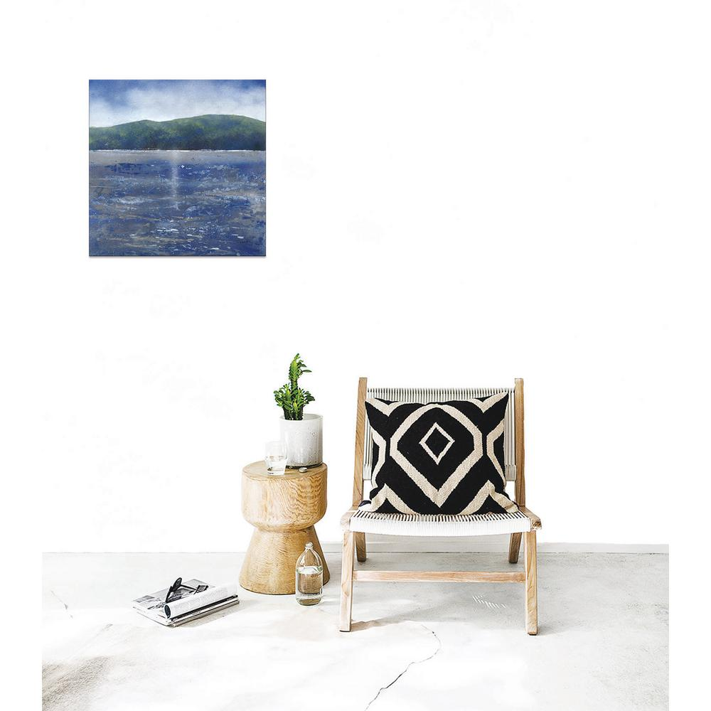 15 In. X 15 In. ''silver Ocean Ii'' By Ptm Images Printed Canvas Wall Art