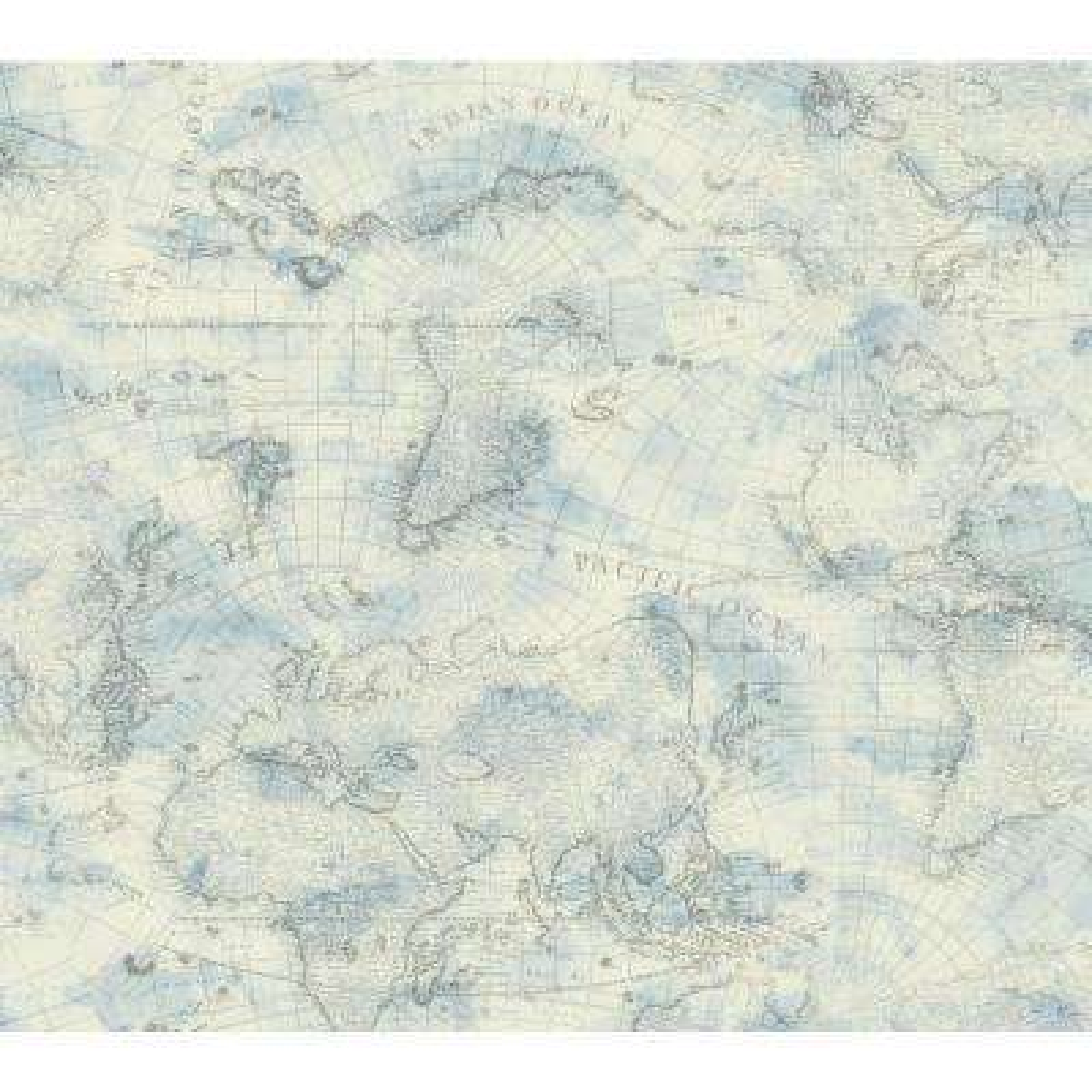Nautical Living Coastal Map Wallpaper