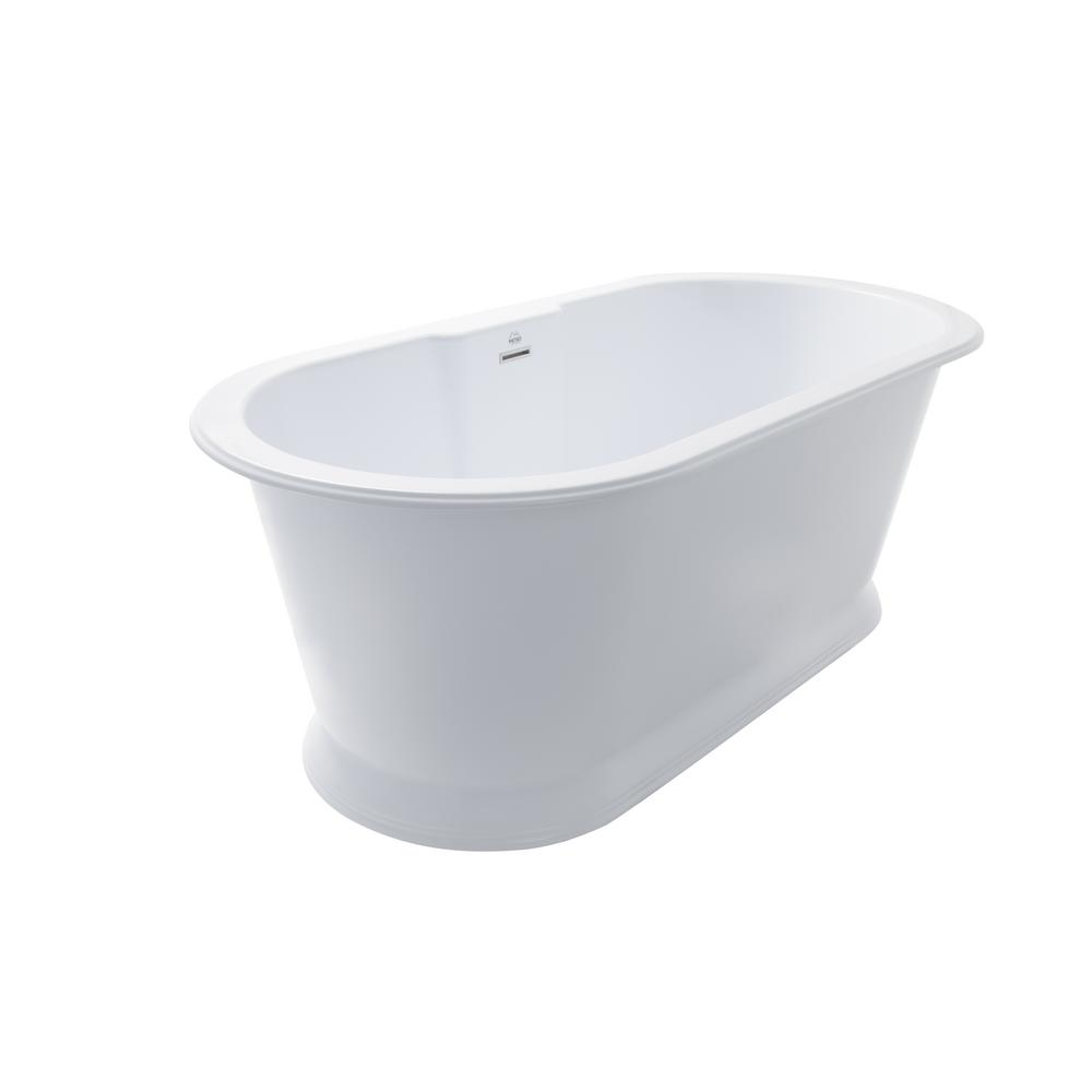 Chateau 5.6 ft. Flat Bottom Thermal Air Bathtub in White