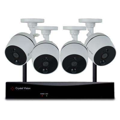 8-Channel Wireless 1080p Full HD 2MP 2TB Hard Drive Surveillance System with 4 Audio Cameras