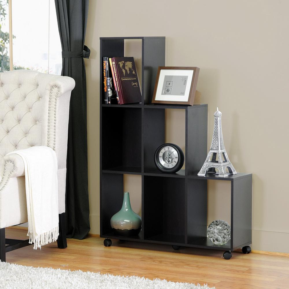 Hexham Dark Brown Wood Open Bookcase