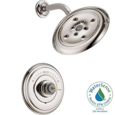 Cassidy 14 Series 1-Handle Shower Faucet Trim Kit Only in Polished Nickel (Valve and Handles Not Included)