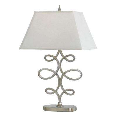 8604 28 in. Silver Foil Table Lamp