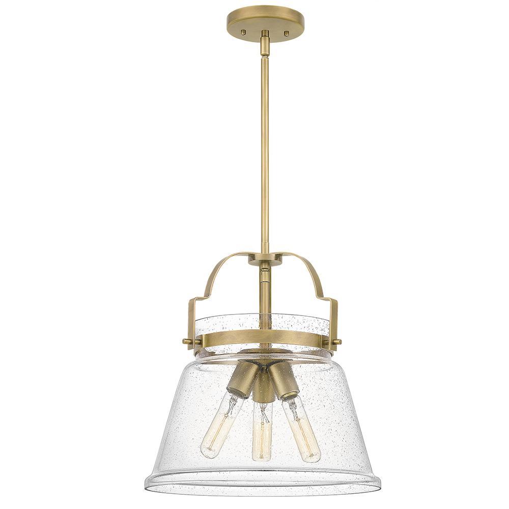 Wimberly 3-Light Weathered Brass Mini Pendant