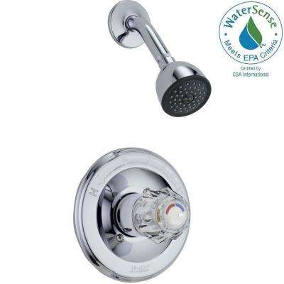 Classic 1-Handle Tub and Shower Faucet Trim Kit in Chrome (Valve Not Included)