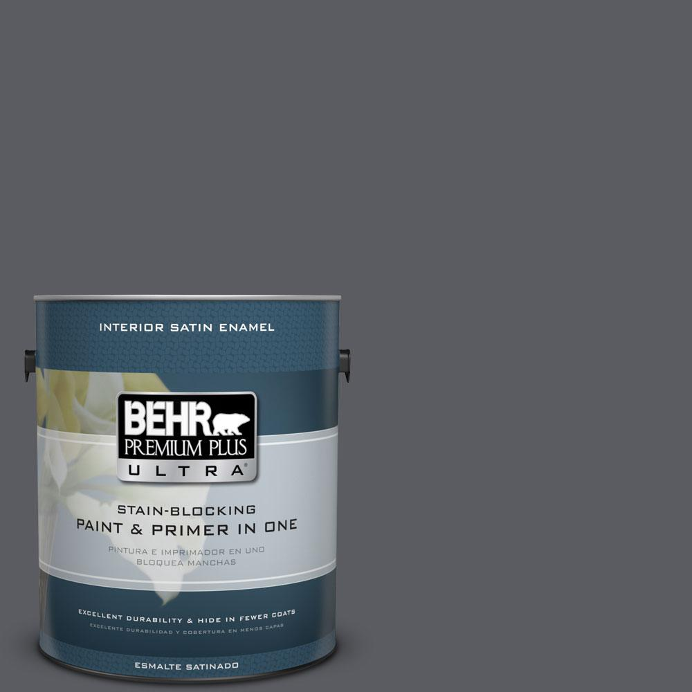 BEHR Premium Plus Ultra 1-Gal. #PPU18-2 Pencil Point Satin Enamel Interior Paint